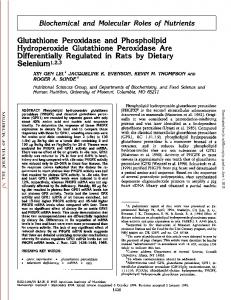 Glutathione Peroxidase and Phospholipid ...