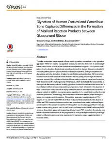 Glycation of Human Cortical and Cancellous Bone ... - Semantic Scholar