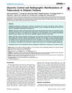 Glycemic Control and Radiographic Manifestations ... - Semantic Scholar