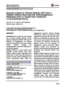 Glycemic Control in Chinese Patients with Type 2 Diabetes Mellitus ...
