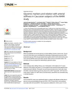Glycemic markers and relation with arterial stiffness in ... - PLOS
