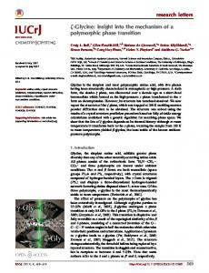 Glycine: insight into the mechanism of a polymorphic ... - IUCr Journals