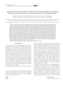 Glycoprotein D Homologs in Herpes Simplex ... - ScienceDirect.com