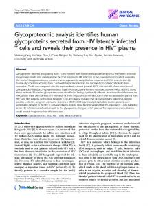 Glycoproteomic analysis identifies human ... - Clinical Proteomics