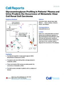 Glycosaminoglycan Profiling in Patients' Plasma and Urine Predicts ...