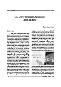GM Crops for Indian Agriculture : Boon or Bane - Odisha Government