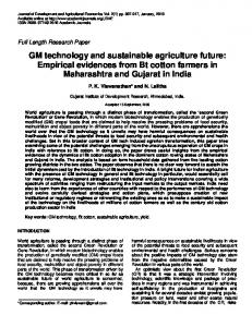 GM technology and sustainable agriculture future ... - CiteSeerX