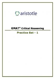 GMAT CR Set 1.pdf - Aristotle Prep