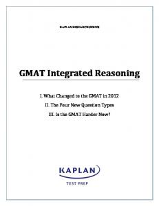 GMAT Integrated Reasoning - Kaplan Test Prep