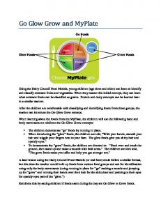 Go Glow Grow and MyPlate