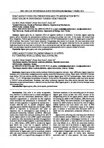 goat agouti gene polymorphism and its association