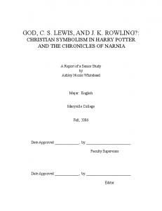 god, cs lewis, and jk rowling? - Christians and Harry Potter