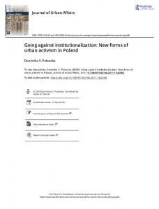 Going against institutionalization: New forms of urban activism ... - DiVA