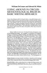going around in circles: methodological issues in basic writing research