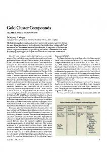 Gold cluster compounds - Springer Link