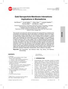 Gold Nanoparticle-Membrane Interactions