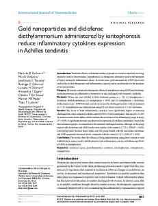 gold nanoparticles and diclofenac