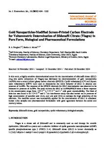 Gold Nanoparticles-Modified Screen-Printed Carbon Electrode for ...