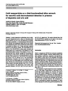 Gold nanoparticles on a thiol-functionalized silica network for ascorbic ...