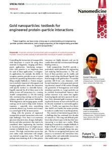 Gold nanoparticles: testbeds for engineered protein ... - Future Medicine