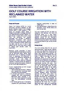 golf course irrigation with reclaimed water - Consorci Costa Brava