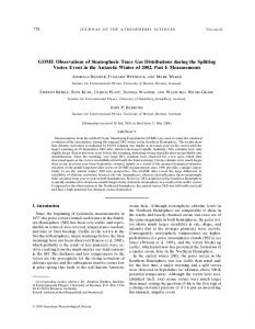 GOME Observations of Stratospheric Trace Gas ... - Uni Bremen