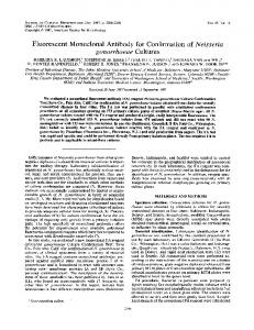 gonorrhoeae Cultures - Journal of Clinical Microbiology - American ...