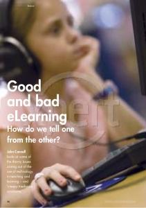 Good and bad eLearning - John Connell