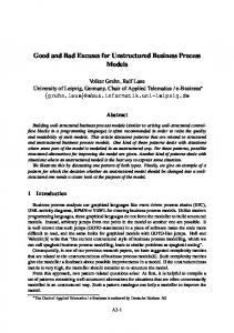 Good and Bad Excuses for Unstructured Business ... - Semantic Scholar