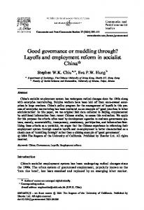 Good governance or muddling through? Layoffs and