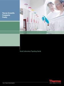 Good Laboratory Pipetting Guide