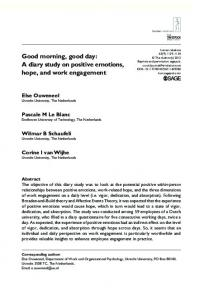 Good morning, good day: A diary study on positive ... - SAGE Journals