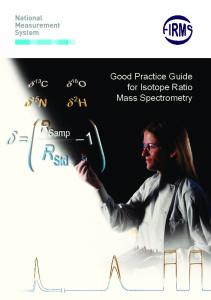 Good practice guide for isotope ratio mass spectrometry, FIRMS