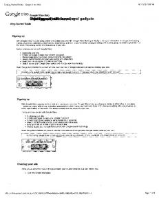 Google Sites Overview