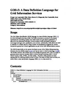 GOSv3: A Data Definition Language for Grid ... - Open Grid Forum