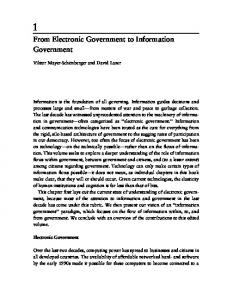 Governance and Information Technology: From ... - David Lazer