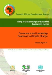 Governance and Leadership Response to Climate Change