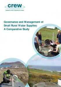 Governance and Management of Small Rural Water