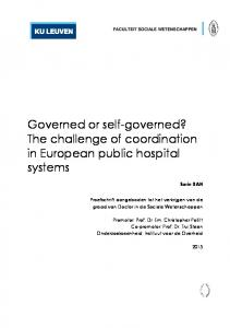 Governed or self-governed? The challenge of