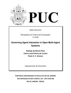 Governing Agent Interaction in Open Multi-Agent
