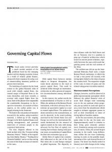 Governing Capital Flows