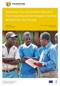 Governing Food and Nutrition Security in Food-Importing and ... - WUR