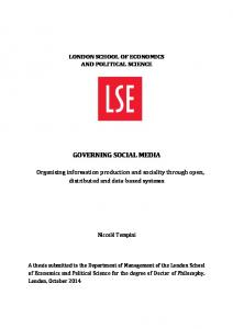 governing social media - LSE Theses Online