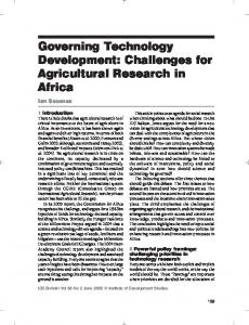 Governing Technology Development ... - Wiley Online Library