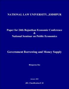 Government Borrowing and Money Supply