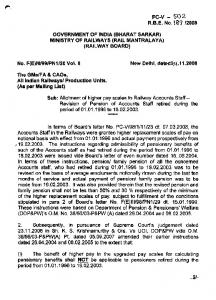GOVERNMENT OF INDIA (BHARAT SARKAR) MINISTRY OF ...
