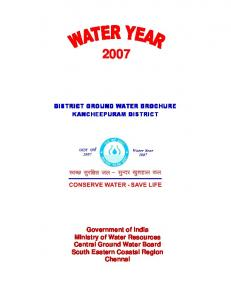 Government of India Ministry of Water Resources Central Ground ...