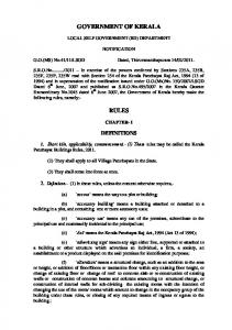 GOVERNMENT OF KERALA - Building Permit