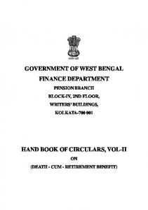 government of west bengal finance department hand book of ...