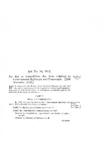 Government Railways Act 1912